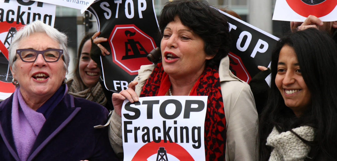 Stop fracking protesters
