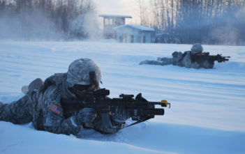 US Army soldiers on exercise in Alaska