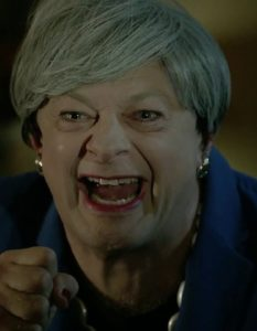 Andy Serkis plays Theresa May