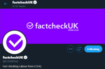 Conservatives' FactcheckUK