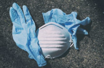 Coronavirus mask and gloves