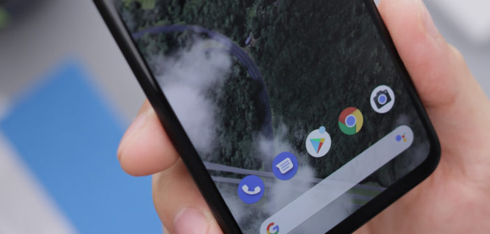 Google Pixel phone running Android