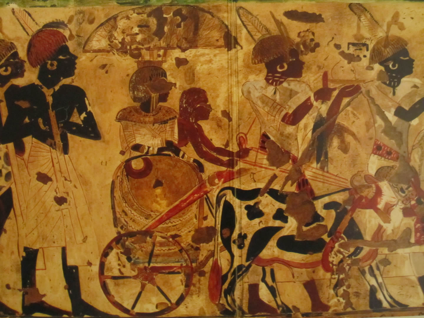 Nubians bringing tribute for King Tut, Tomb of Huy