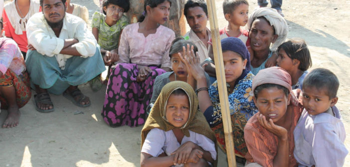 Displaced Rohingya people in Rakhine State