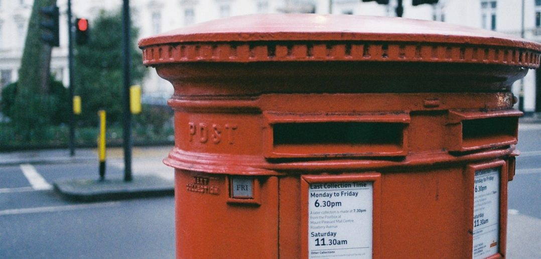 Royal Mail red postbox